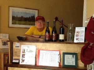 Drinking wine at tastng room